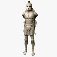chinese warrior statue 3D models