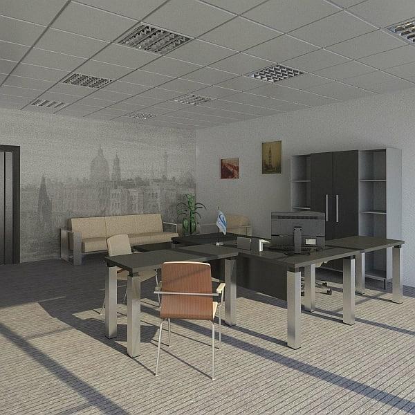 Office design 3d fbx for Office design 3d max