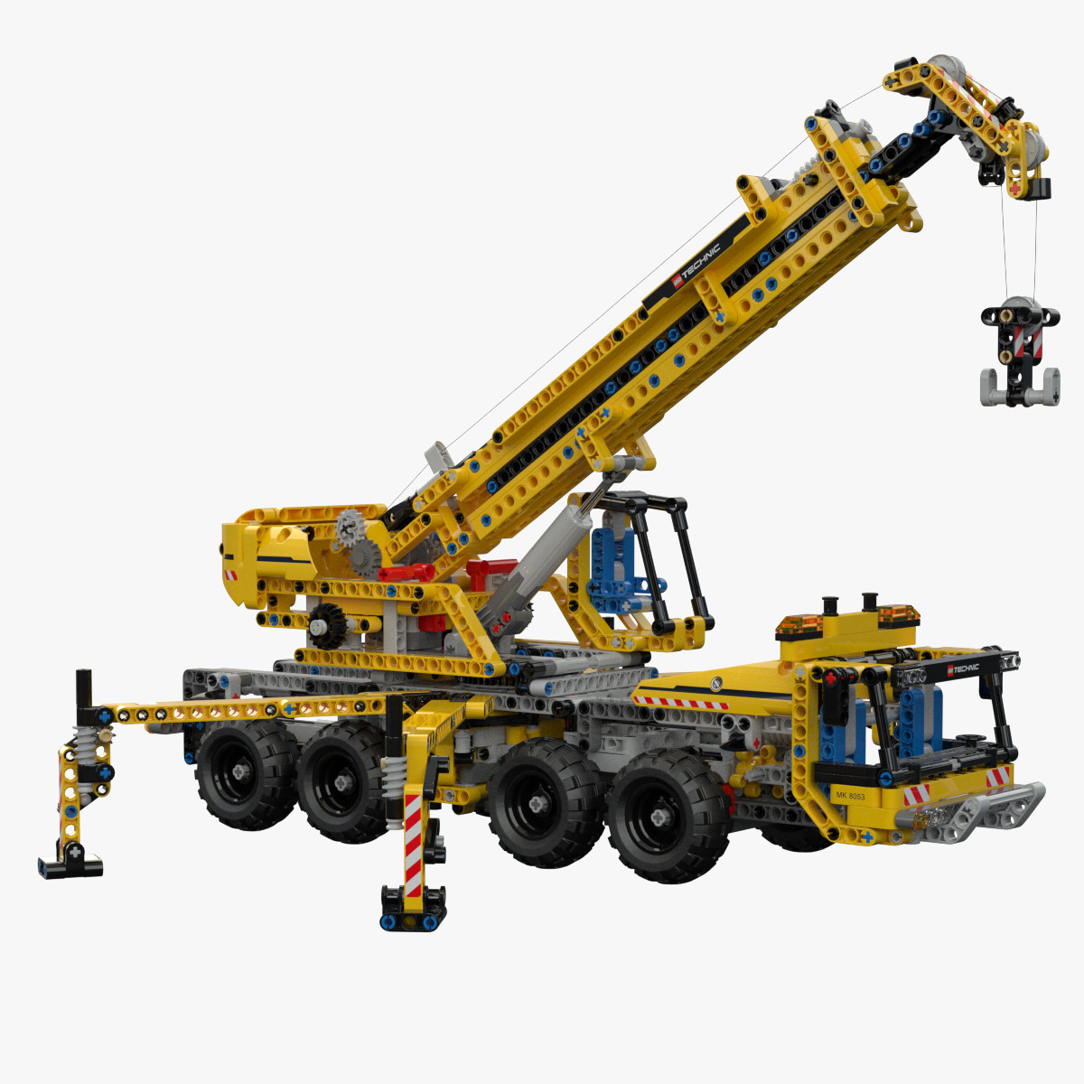 3d lego technic mobile crane model. Black Bedroom Furniture Sets. Home Design Ideas