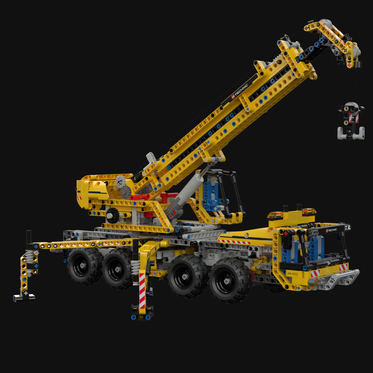 3d model lego technic mobile crane. Black Bedroom Furniture Sets. Home Design Ideas
