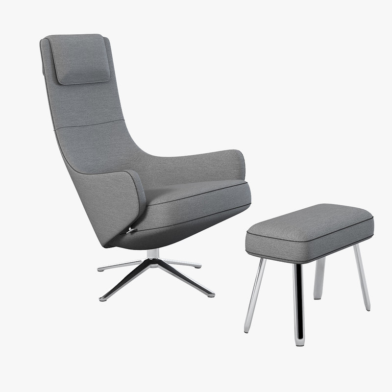 maya vitra elegant lounge chair. Black Bedroom Furniture Sets. Home Design Ideas