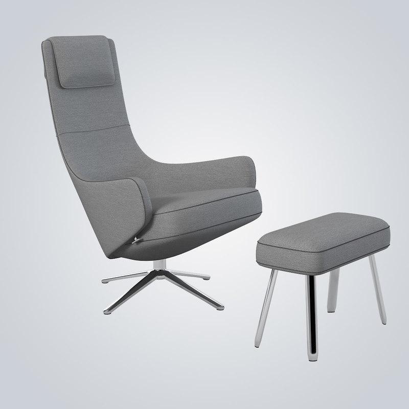 max vitra elegant lounge chair. Black Bedroom Furniture Sets. Home Design Ideas