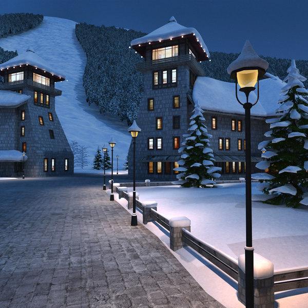 Mountain City Resort 3D Models