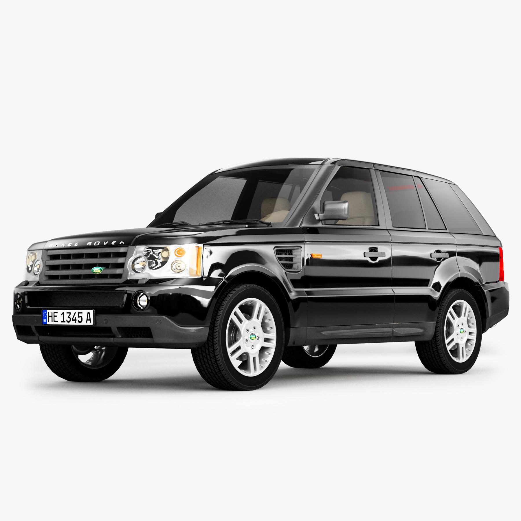 Land Rover Suv: 3d Range Rover Suv Model