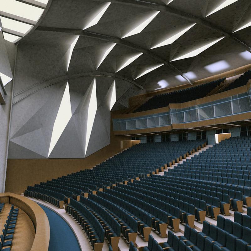 Auditorium theater 3d model for Theatre model