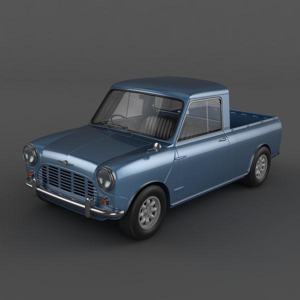 Morris Mini Pickup 3D Models