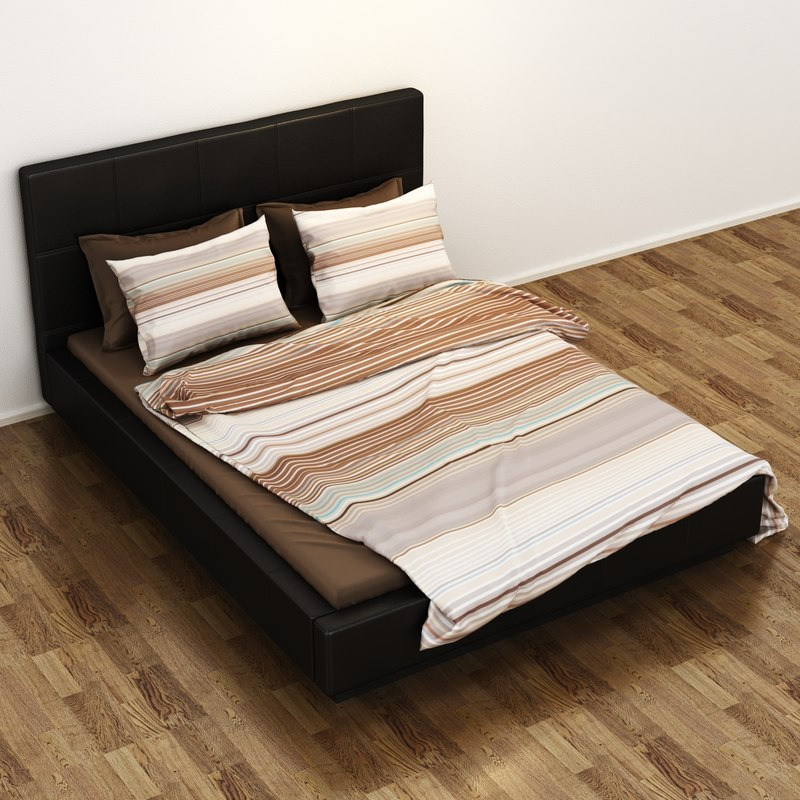 ikea folldal bed 3d model