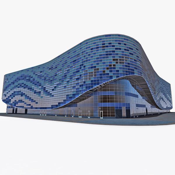 Iceberg Skating Palace Sochi Russia 3D Models