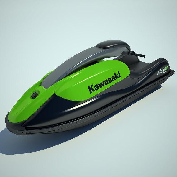Jet Ski Kawasaki 800 3D Models