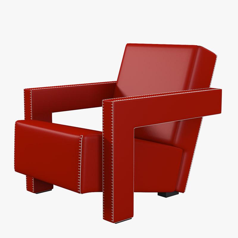 3d Utrecht Chair Cassina Mode