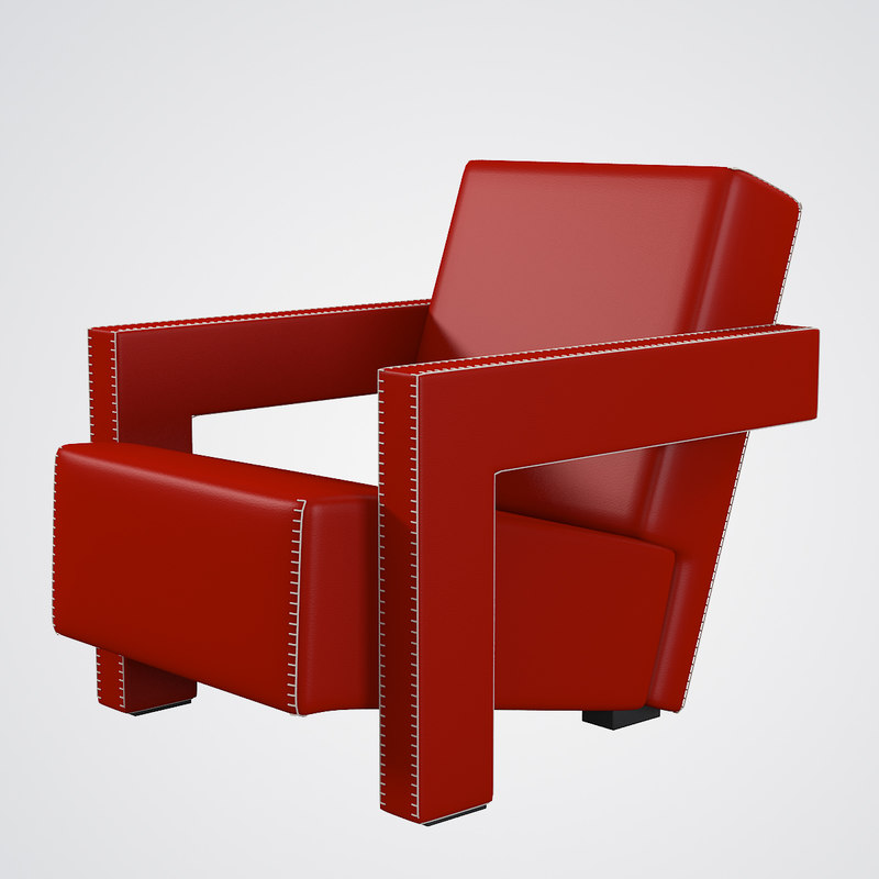 3d utrecht chair cassina mode for Famous modern chairs
