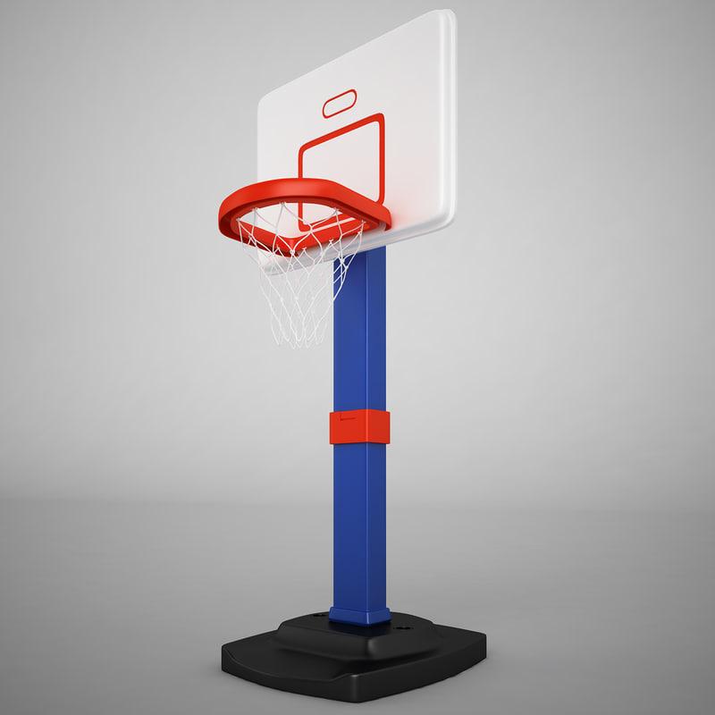 3d basketball hoop b