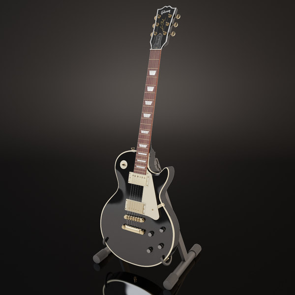 Gibson Les Paul Black 3D Models