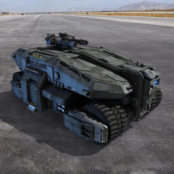 Sci Fi APC 3D Models
