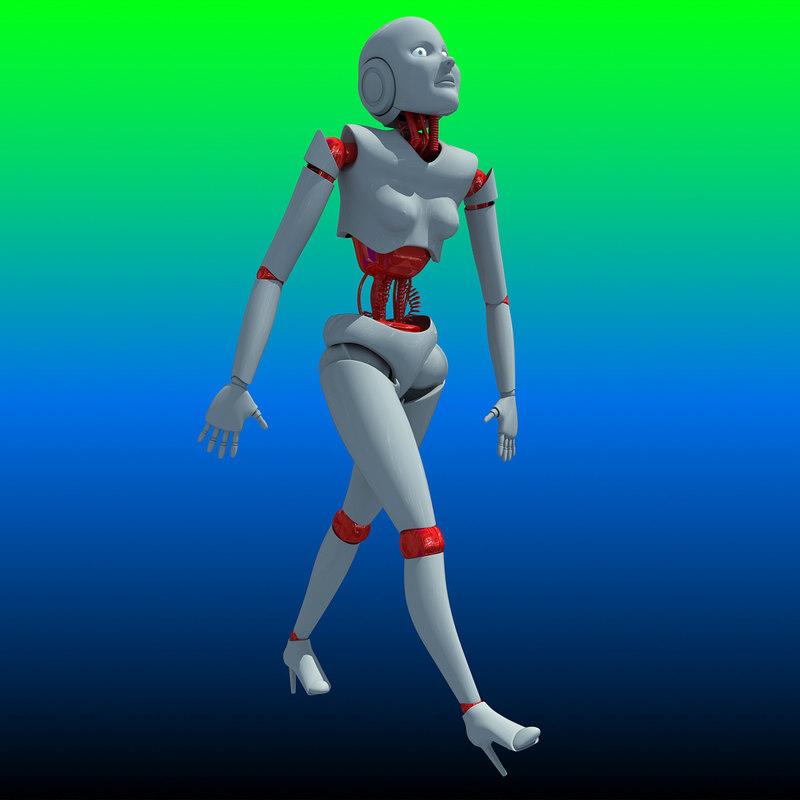 Rigged Human Robot