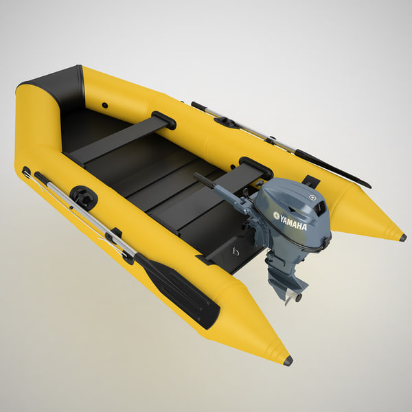 Inflatable Boat 04 3D Models