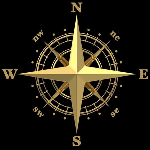 Compass Rose 3D Models