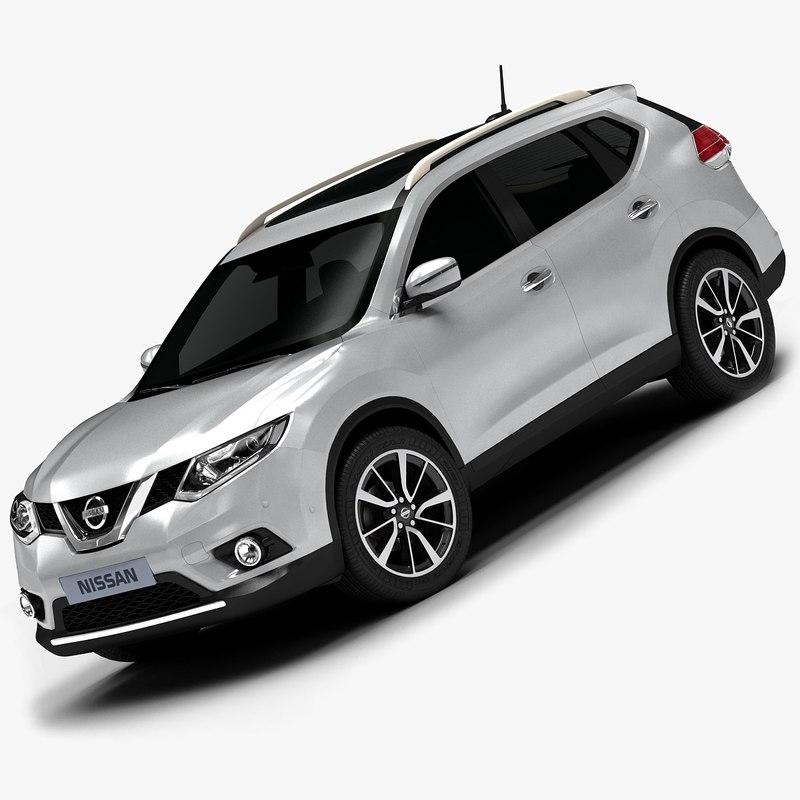 2014 Nissan Sentra Interior: 2014 Nissan X Trail Interior 3d Model