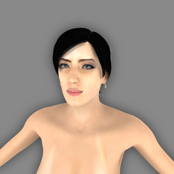Clair Sexy Female Naked 3D Models