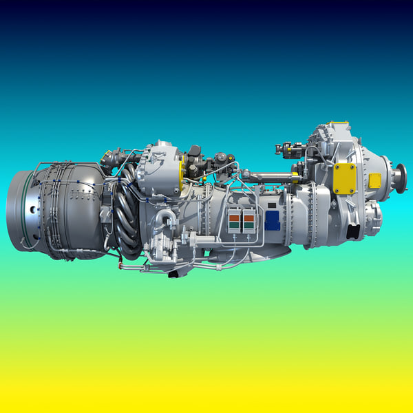 Turboprop Engine Pratt & Whitney Canada PW100 3D Models