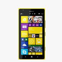 nokia lumia 1520 3D models
