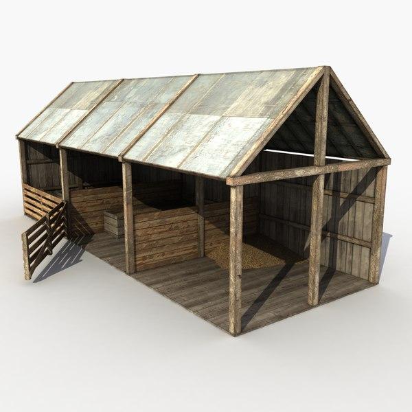 Wooden Stable 3D Models