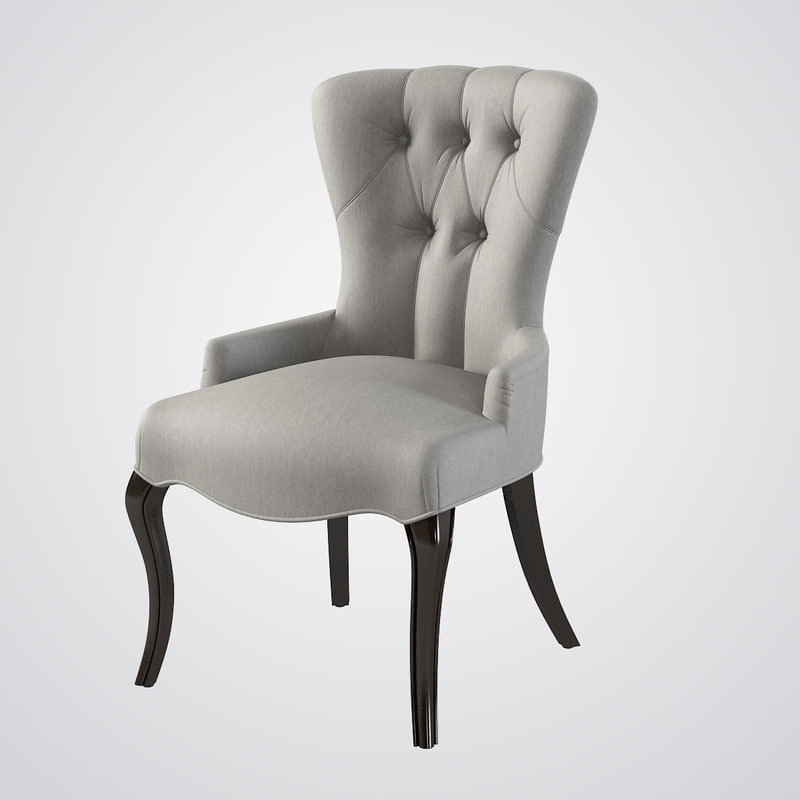 Baker tufted accent chair 3d model Tufted accent chair