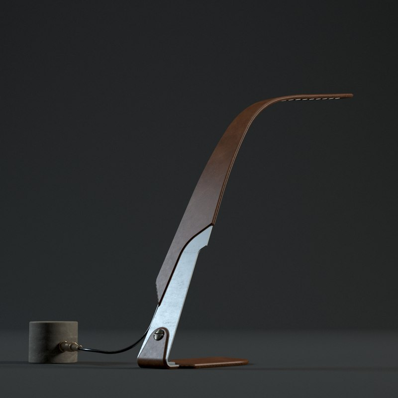 Vintage Orchid Lamp