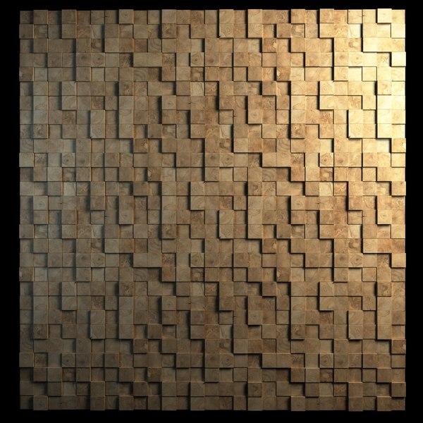 Teak Interior Cladding 3D Wall Texture Maps