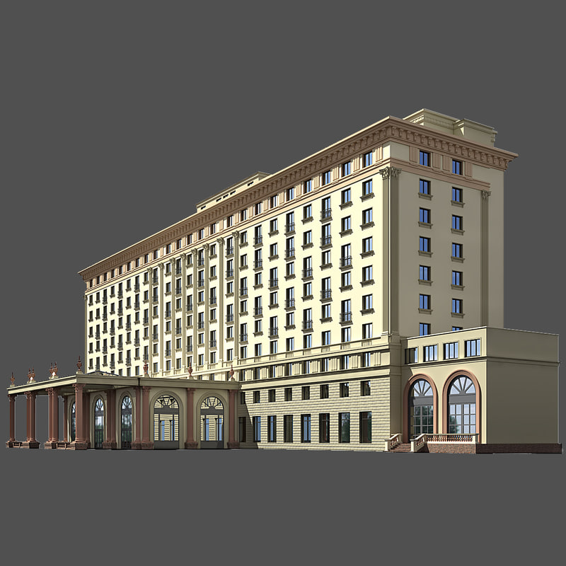 Classic Hotel Building Model