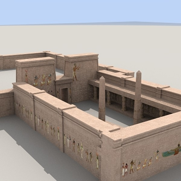 Egyptian Temple Complex 3D Models