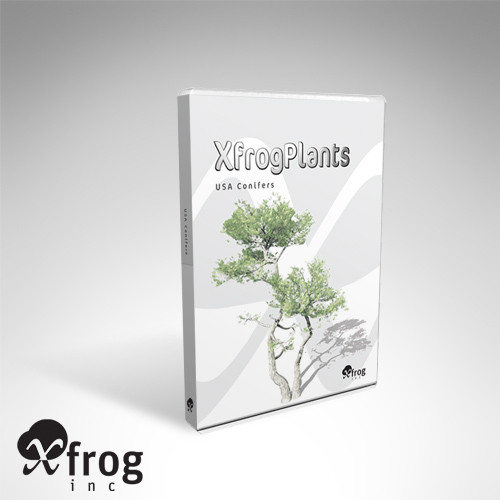 XfrogPlants USA Conifers Library 3D Models