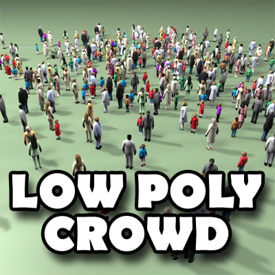 Low Poly Crowd 3D Models