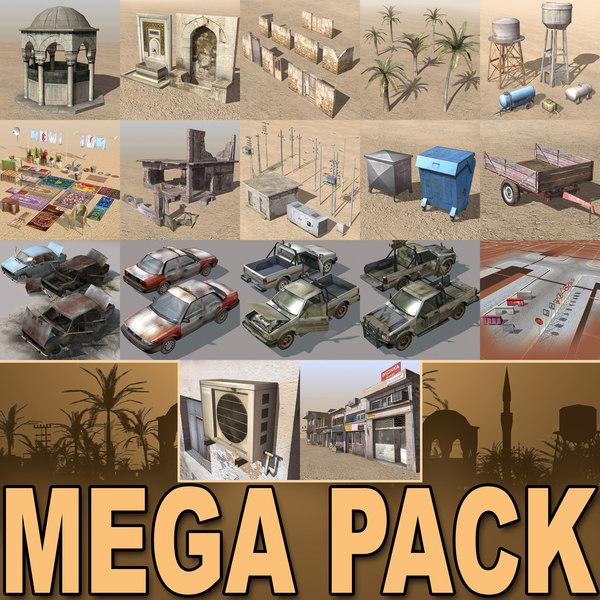 Arab City-Elements MEGA Collection 3D Models