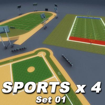 4xSports-01_Multi 3D Models