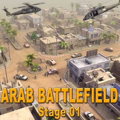 ArabBattlefield_St01_Multi 3D Models