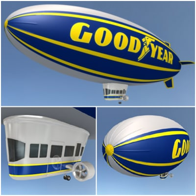 Goodyear Blimp 3D Models