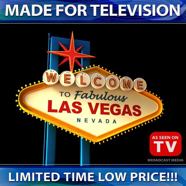 Vegas Sign 3D Models