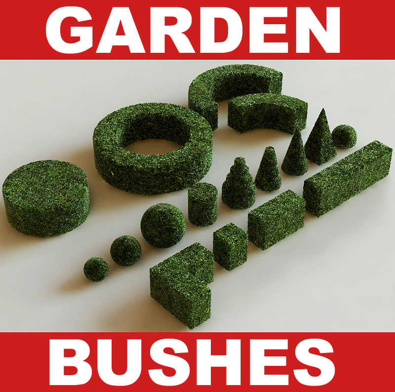 Searched 3d models for Garden bushes collection