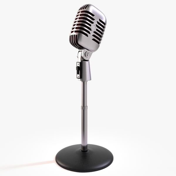 50s Mic & Stand 3D Models