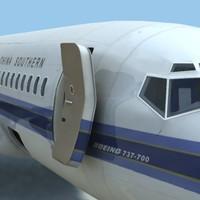 Boeing 737-7 3D models