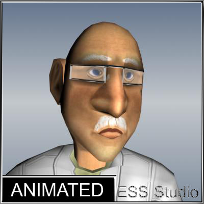 Scientist Animated 3D Models