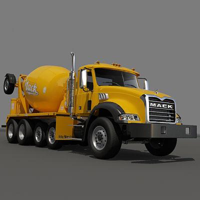 Concrete mixer truck Texture Maps