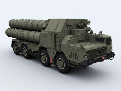 S-300PMU surface-to-air missile system 3D Models