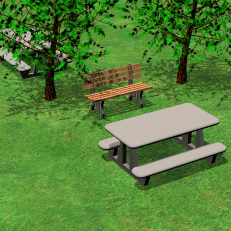 Park Bench Into Picnic Table: Picnic Table Park Bench 3ds