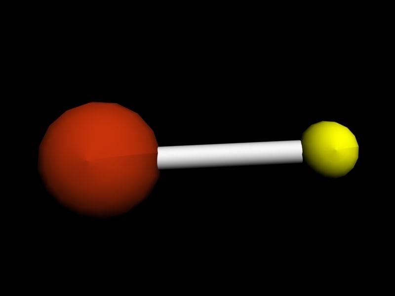 hydrogen bromide 3d model