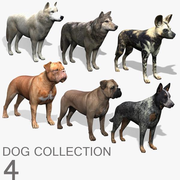 Dog Collection (4) 3D Models