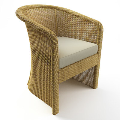 Wicker chair and table 3D Models
