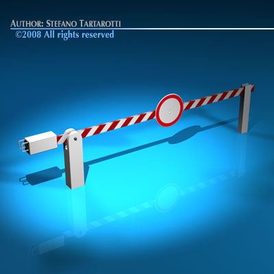 Boundary automatic barrier 3D Models