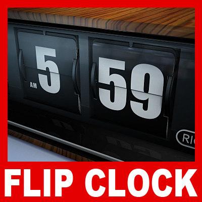 Flip Clock 3D Models